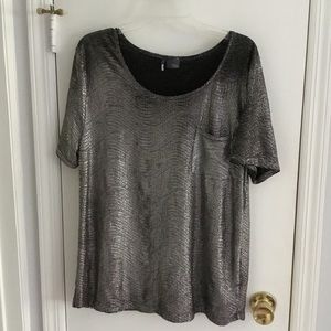 Urban Outfitters Silver Metallic t-shirt